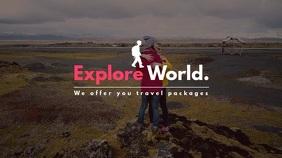 Explore World Video Template Digitalanzeige (16:9)