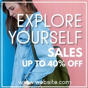 explore yourself instagram post sales summer template