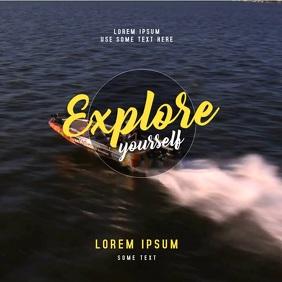 Explore Yourself - Instagram Post video Quadrat (1:1) template