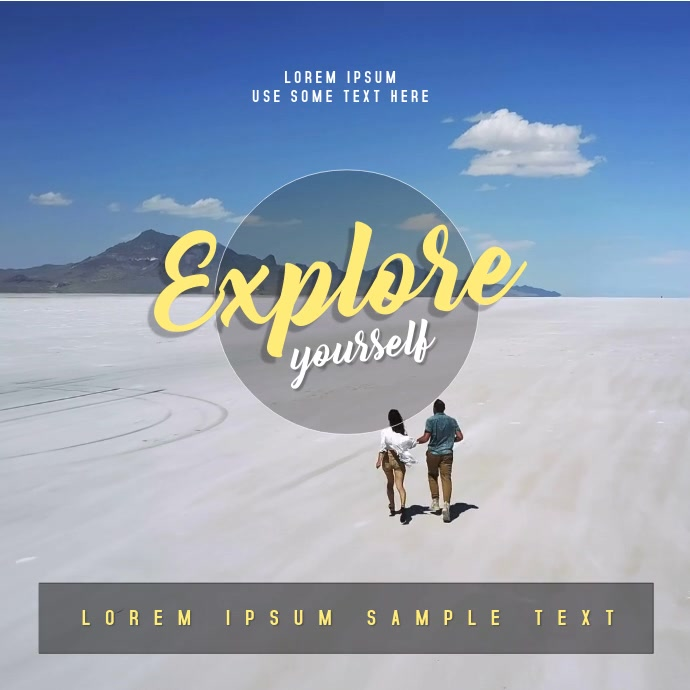 Explore Yourself - Instagram Post video Квадрат (1 : 1) template
