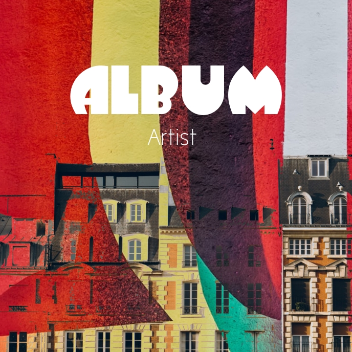 Expressive colorful Album Cover Art