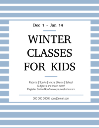 Extra / Summer / Winter Classes for Kids Flyer (US Letter) template