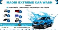 Extreme car wash delt Facebook-billede template