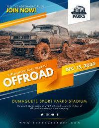 Extreme Sports Rally Event Flyer Template