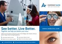 eye clinic surgeon postcard health advertisem Ikhadi leposi template