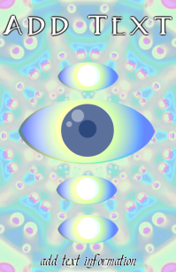 eye vision and mandala like bakground