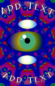 eye vision and psychedelic bakground