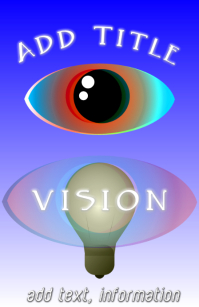 Eye - Vision - light bulb lamp and, blue and red