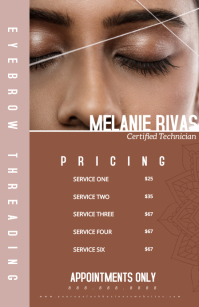 Eyebrow Threading Eye Lash Extension Pricing Halve pagina breed template