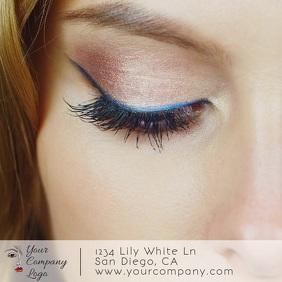 Eyelash & Makeup Video Square (1:1) template