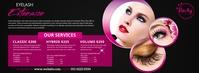 Eyelash Extension Services Facebook Cover Photo template
