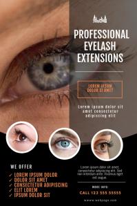 Eyelash Extensions Flyer Salon Template