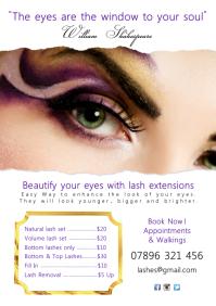 Eyelash Extensions Poster