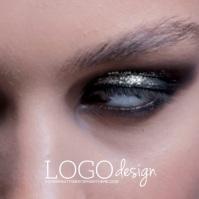 Eyelashes Beauty Makeup Logo Video Design template
