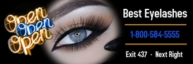 eyelashes/beauty salon/banners/we're open/spa template