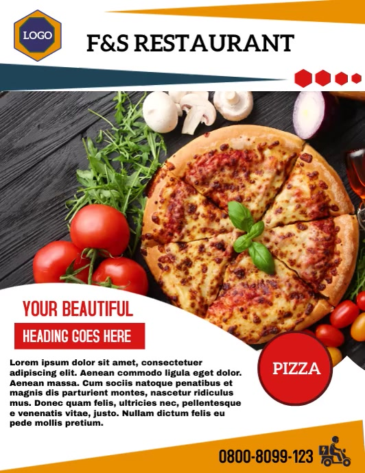 F&S Restaurant Flyer (Letter pang-US) template