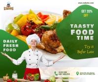 f Restaurant ads Rettangolo grande template