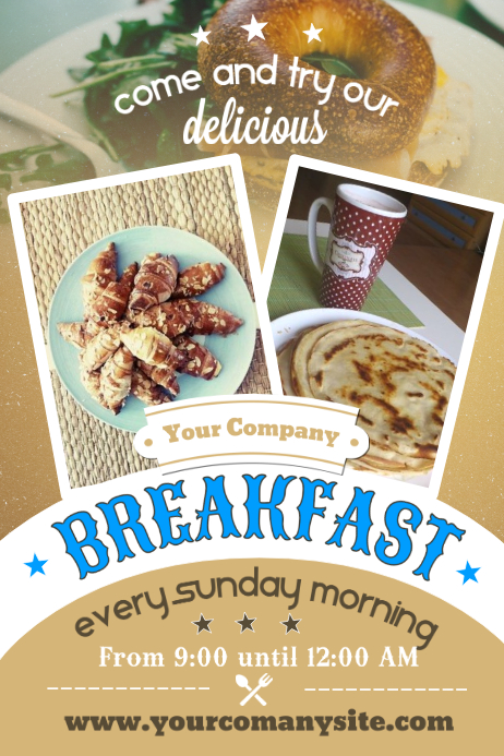 Breakfast Poster Template