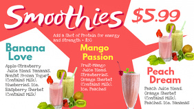 Smoothies Digital Menu Template Digitale Vertoning (16:9)