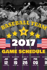 Baseball Schedule Poster Template