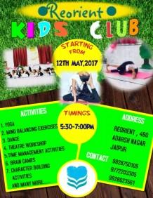 Copy of Kids Summer Camp Flyer Template
