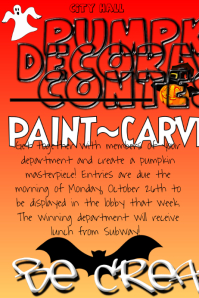 pumpkin carving contest flyer