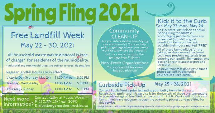 2021 Spring Fling Facebook Shared Image template