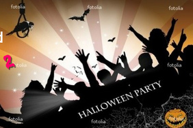 halloween bash 2011 Poster template