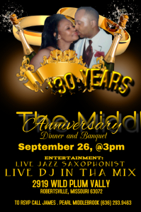 Anniversary Flyer | Customizable Design Templates For Anniversary Party Flyer Postermywall