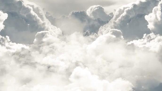 Cloud Background Pantalla Digital (16:9) template