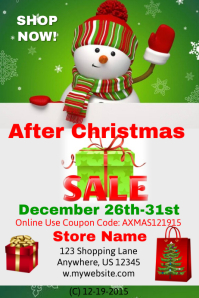 After Christmas Retail Sales Event Template