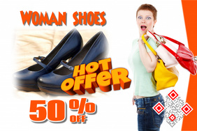 Sale poster for hot offer (With item image placeholder)