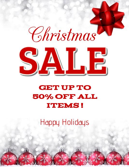 Christmas Sale Folheto (US Letter) template