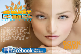Tanning Salon Summer Ad Discount Trial Flyer