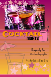Cocktail nights Poster template