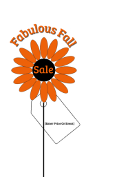 Fabulous Fall Sale Flyer (US Letter) template