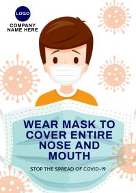 Face Mask Covid-101 iii A2 template