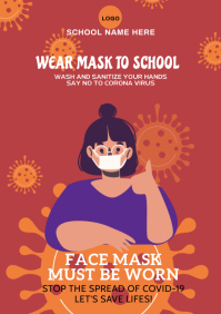 Face Mask Covid-19 c A2 template