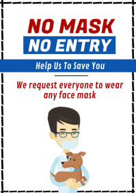 Face Mask Covid-19 A1 template