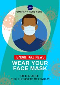 Face Mask Covid-19 iii A2 template