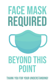 Face Mask Required Door Sign Coronavirus 2 A4 template