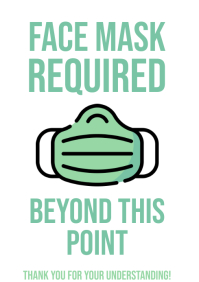 Face Mask Required Door Sign Coronavirus A4 template