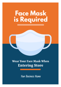 Face Mask Required Flyer A4 template