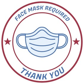 Face Mask Sign Square (1:1) template