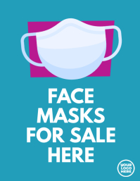 Face Masks for sale store flyer retail ใบปลิว (US Letter) template