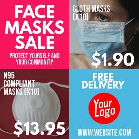 Face Masks for sale store instagram flyer