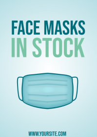 Face Masks In Stock Sign A4 template
