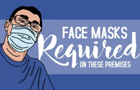 Face Masks Required Poster แทบลอยด์ template