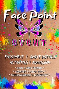 Face Paint Art Kids Activities Rainbow Butterfly Splash
