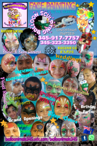 Face Painting Poster/Banner '17